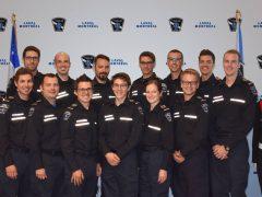 1re cohorte universitaire de la Majeure en soins préhospitaliers d'urgence avancés à l'Université de Montréal - Août 2018 - Lors de la remise d'épaulettes